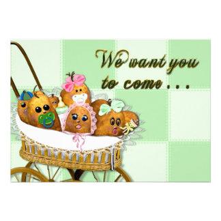 INVITATION - MULTI PURPOSE - POTATO BABY SPUDS ANNOUNCEMENTS