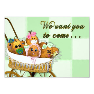 INVITATION - MULTI PURPOSE - POTATO BABY SPUDS