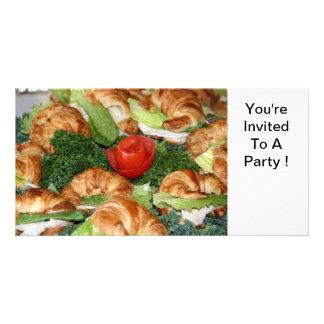 Invitation part croissants custom photo card