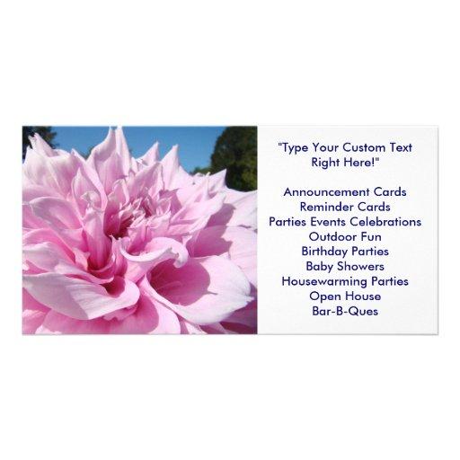INVITATION PHOTOCARDS Big Dahlia Flower Showers Photo Cards