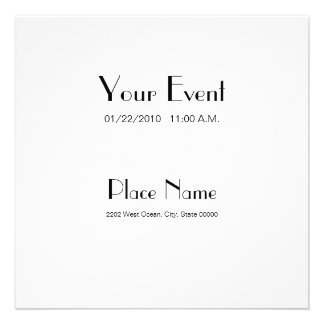 Invitation Recycled Paper White Color 5 25x5 25