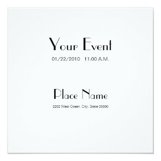 Invitation Recycled Paper/ White Color 5.25x5.25