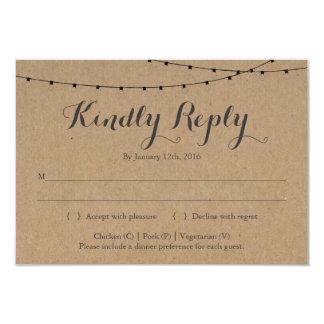 Invitation Reply Card Insert | Rustic Kraft