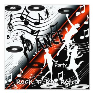 Invitation Rock 'n' Roll Retro Dance Party