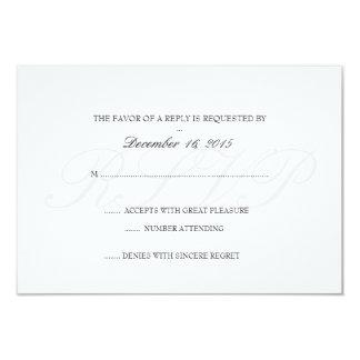 Invitation RSVP Card | Basic (RSVP)-white