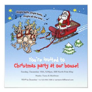 """Invitation Santa Claus no. 11 5.25"""" Square Invitation Card"""