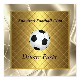 "Invitation Soccer Dinner party Football 5.25"" Square Invitation Card"