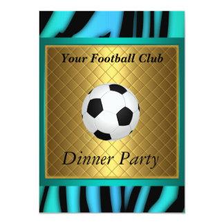 """Invitation Soccer Dinner party Football 4.5"""" X 6.25"""" Invitation Card"""