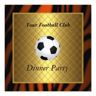 Invitation Soccer Dinner party Football