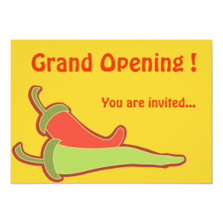 """Invitation Template Mexican Restaurant 5"""" X 7"""" Invitation Card"""