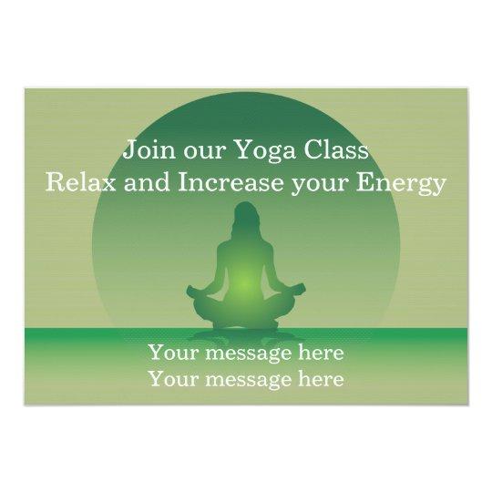 Invitation Template Yoga