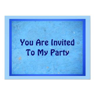 Invitation - Three Shades of Blue