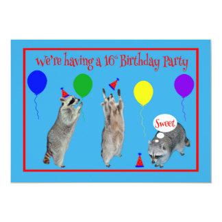 Invitation to 16th Birthday Party