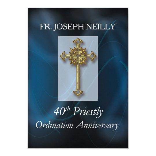 Invitation to 40th Ordination Anniversary Custom N
