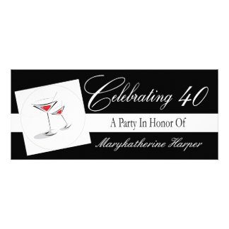 Invitation to a 40th Birthday Cocktail Party