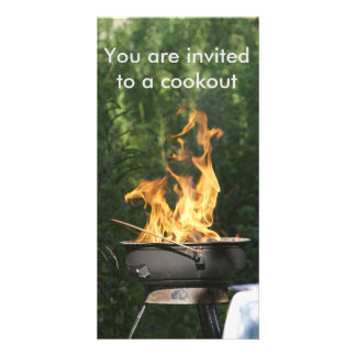 Invitation to a cookout personalised photo card