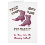 Invitation to Go Dancing - Victorian Boots Cards