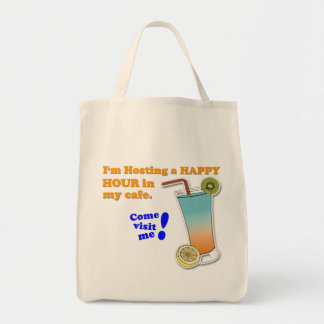 """Invitation to Happy Hour"" Game Tote Bag"
