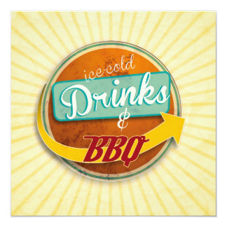 Invitation to the BBQ in the 50er-Jahre-Style