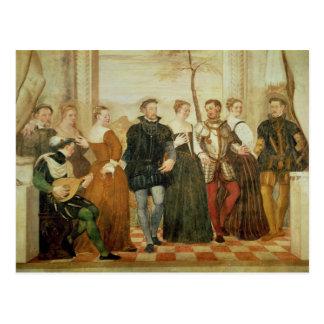 Invitation to the Dance 1570 Postcard