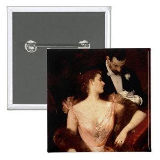 Invitation to the Waltz, 1895 (oil on canvas) 15 Cm Square Badge