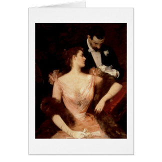 Invitation to the Waltz, 1895 (oil on canvas) Greeting Card