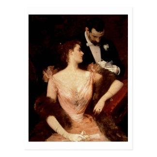 Invitation to the Waltz, 1895 (oil on canvas) Postcard