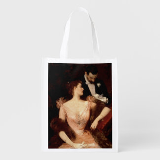 Invitation to the Waltz 1895 oil on canvas Grocery Bags