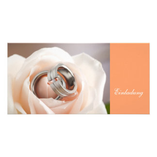 Invitation to the wedding ceremony customized photo card