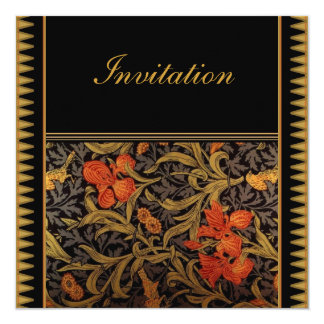 Invitation Vintage Victorian William Morris