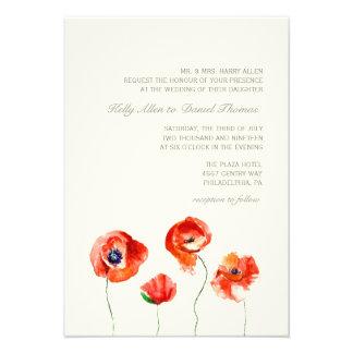 Invitation   Watercolor Flowers