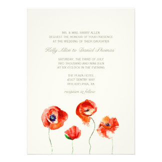 Invitation   Watercolor Flowers -large