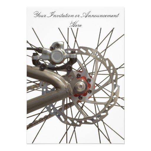 Invitation with Bike Wheel Hub
