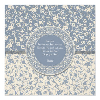 Invitation with embroidered