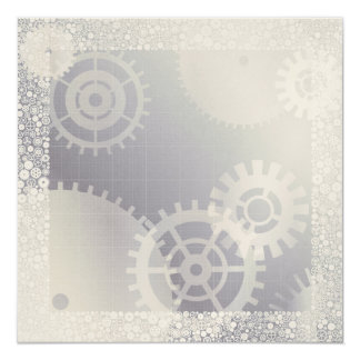 invitation with gears