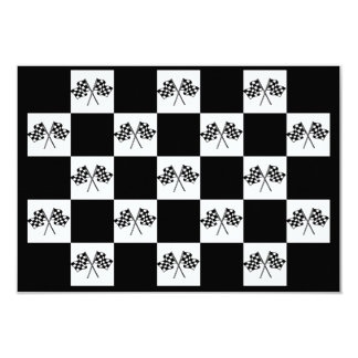 Invitations Any Auto Racing Checkered Flags Indy