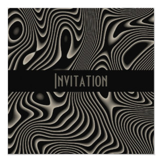 Invitations Black & White Style Abstract Print