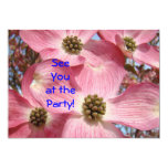 "Invitations Custom See You at the Party! Dogwood 5"" X 7"" Invitation Card"