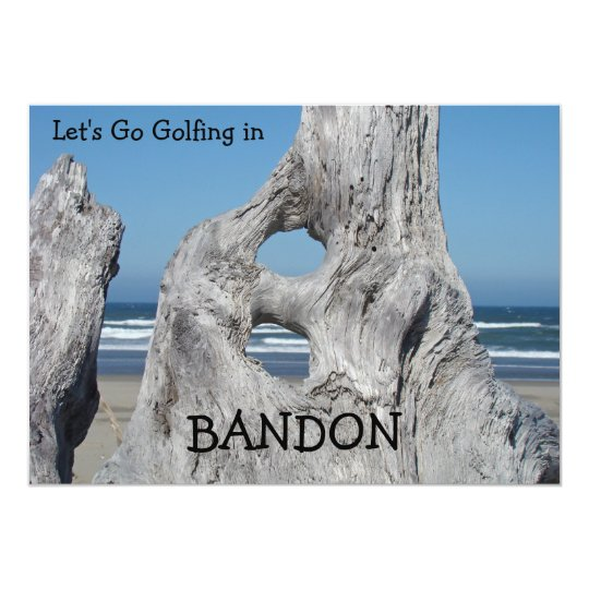 Invitations Golfing Bandon Oregon Beach Driftwood