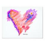 INVITATIONS - Heart Felt 11 Cm X 14 Cm Invitation Card