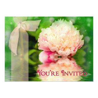 "Invitations - Multi-Purpose - Peonies 5.5"" X 7.5"" Invitation Card"