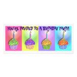 Invitations - Pop Art Birthday Cupcakes