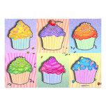 Invitations - Pop Art Cupcakes