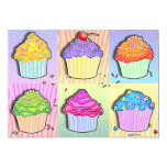 Invitations - Pop Art Cupcakes