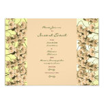Invitations template - customisable peach orchids 13 cm x 18 cm invitation card
