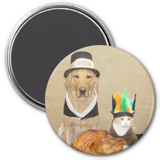 Invite a friend for Thanksgiving 7.5 Cm Round Magnet