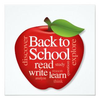 Invite, Back to School, Apple for the Teacher