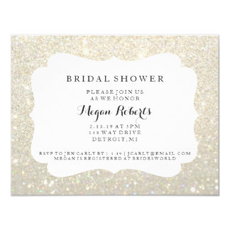 Invite - Bridal Shower Day Fab - White Gold