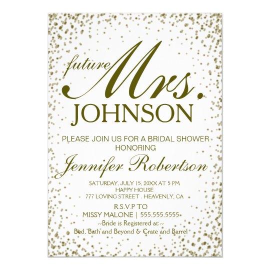 Invite | Bridal Shower Gold Confetti