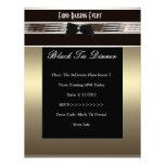 Invite Fundraiser Formal Black Tie Bronze Pewter Announcements